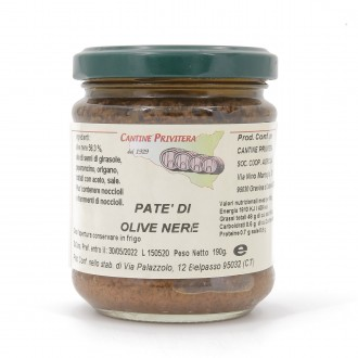 Patè di olive nere (220 gr)